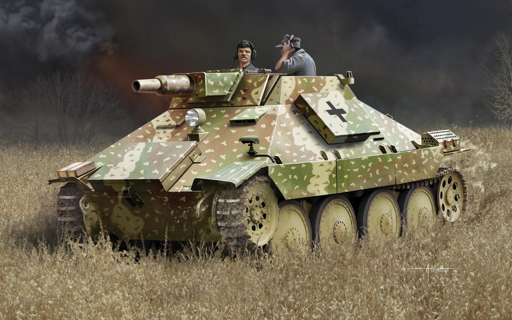 рисунок Vollkettenaufklaerer 38 w/7.5cm Kanone 51 L/24