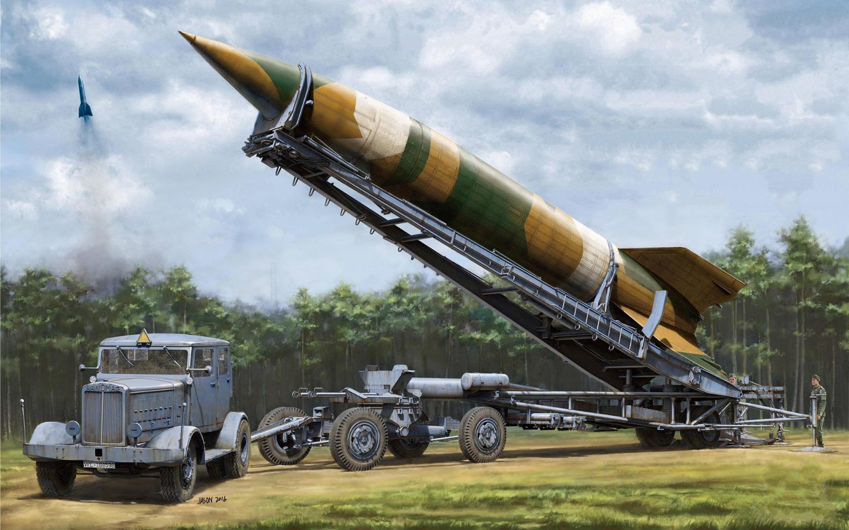 рисунок V-2 Rocket Meillerwagen Hanomag SS100