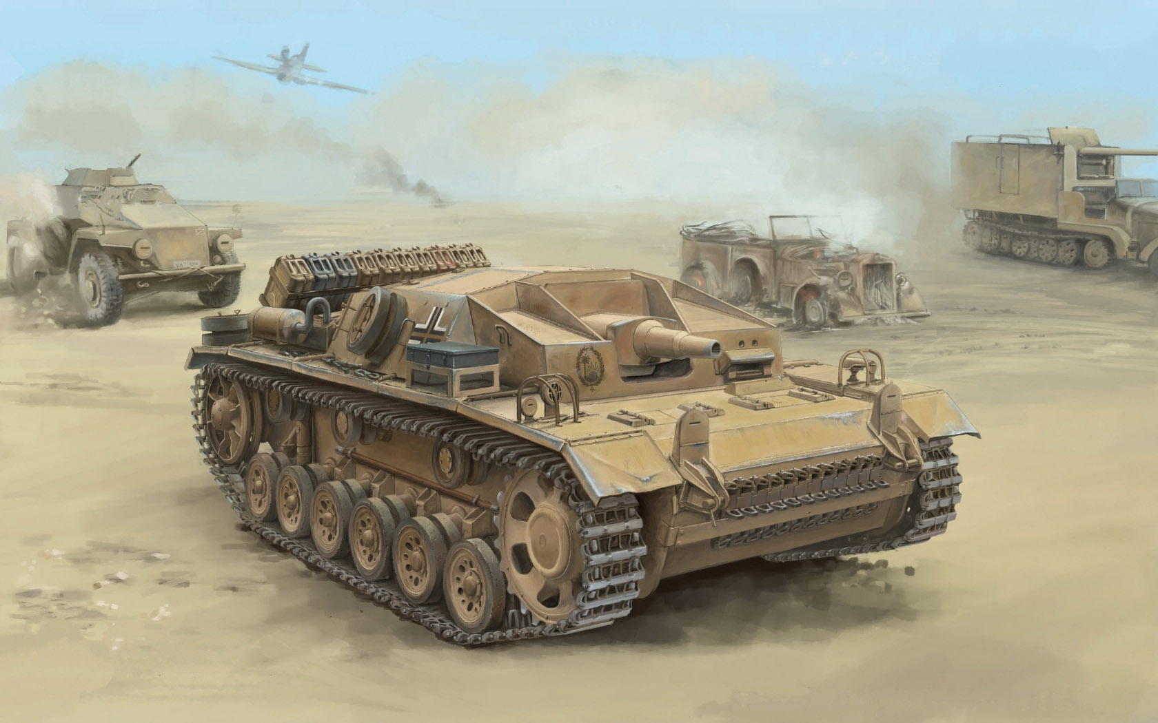 рисунок Sturmgeschutz III Ausf.D (Sd.Kfz.142)