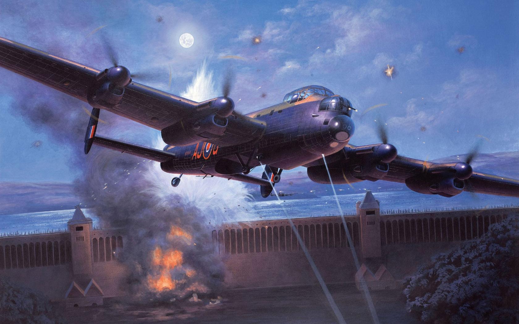 "рисунок Lancaster B.III ""DAMBUSTERS"""
