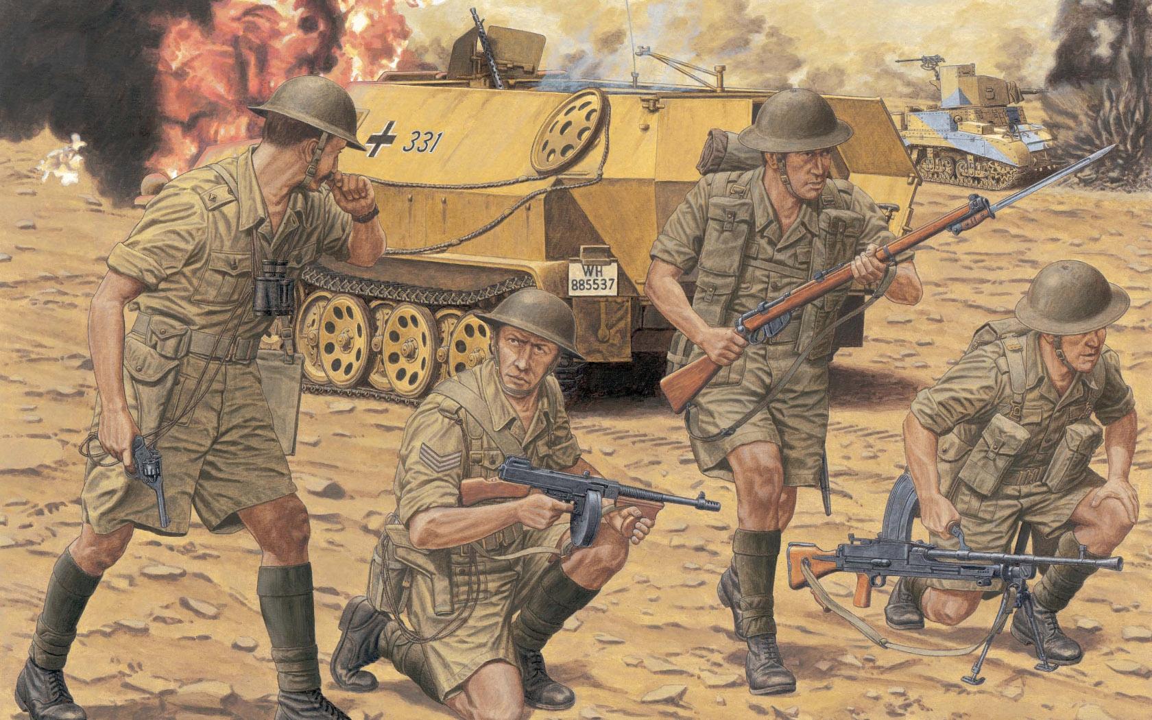 рисунок British 8th Army Infantry
