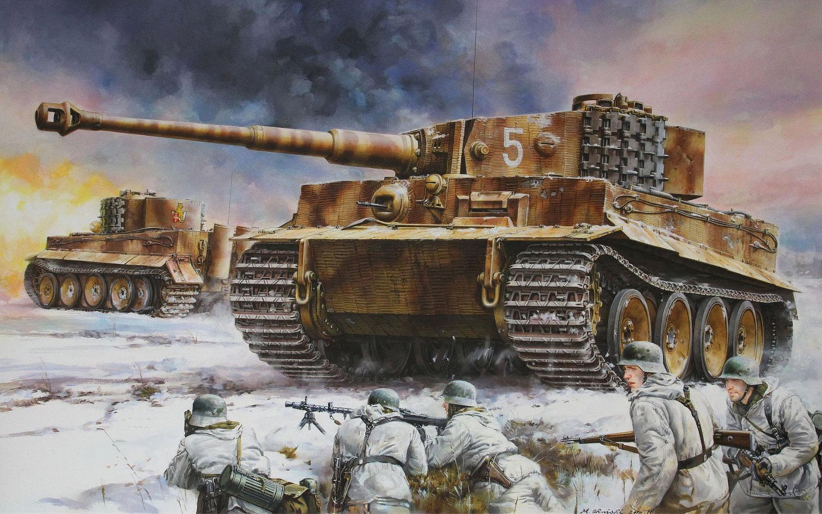 рисунок Pz.Kpfw.VI Ausf.E Tiger I