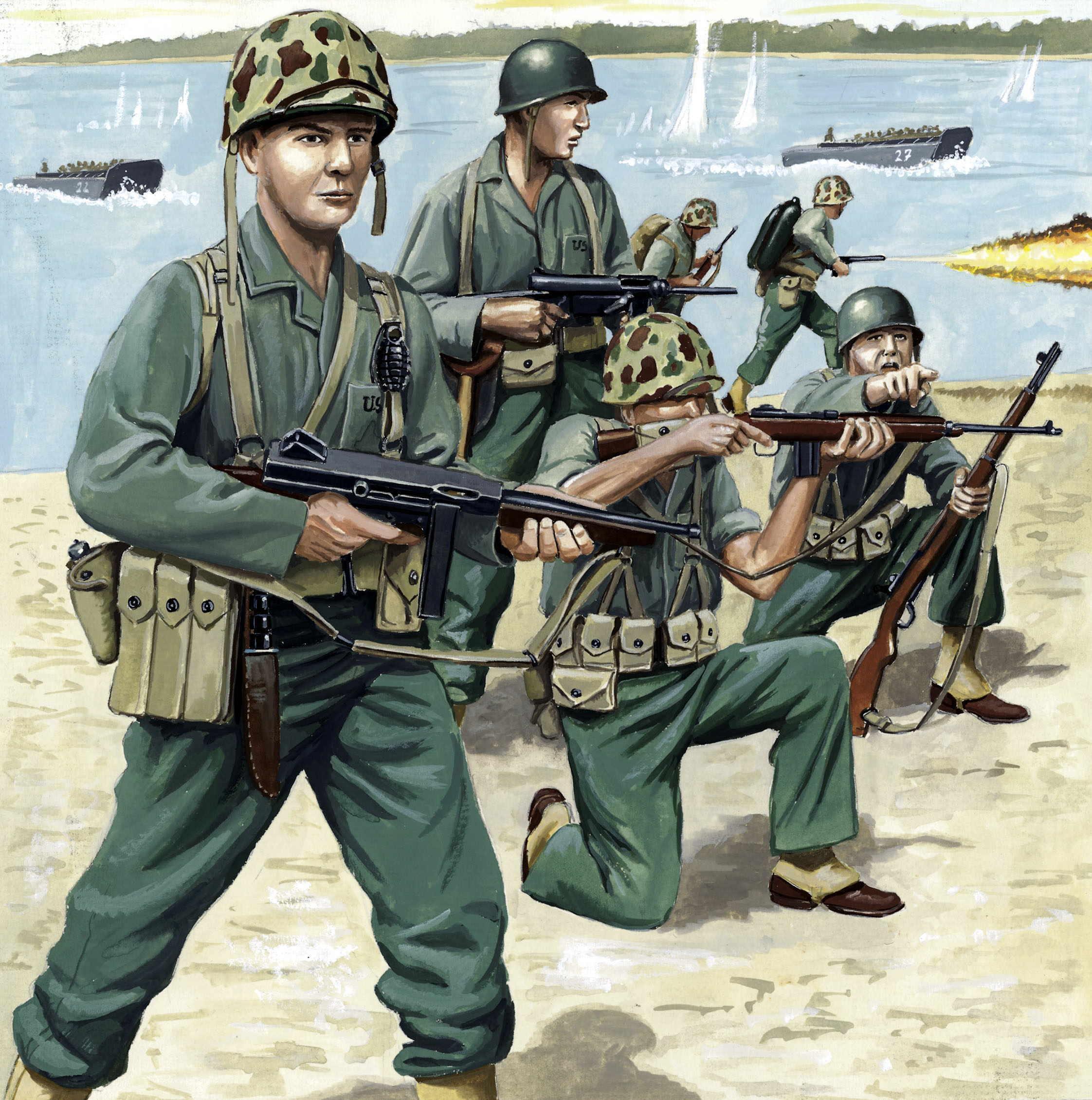 рисунок US Marines WW2