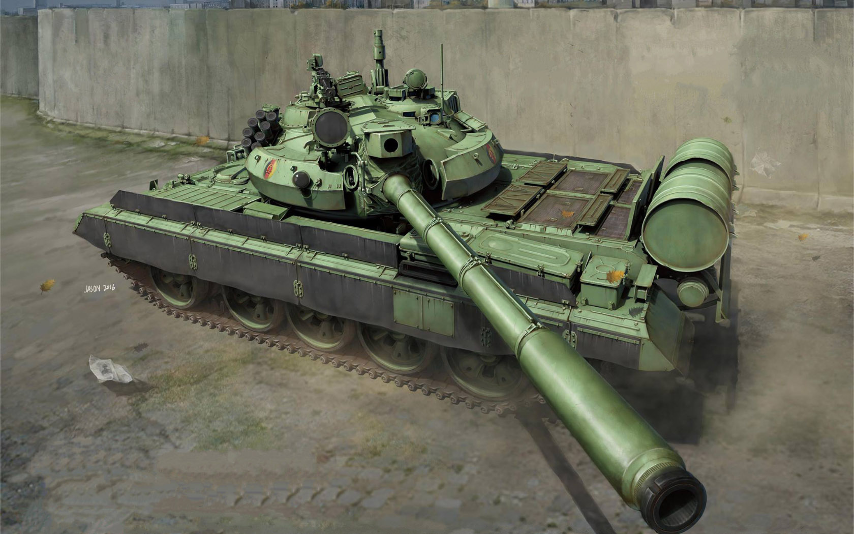 рисунок DDR Medium Tank T-55 AM2B