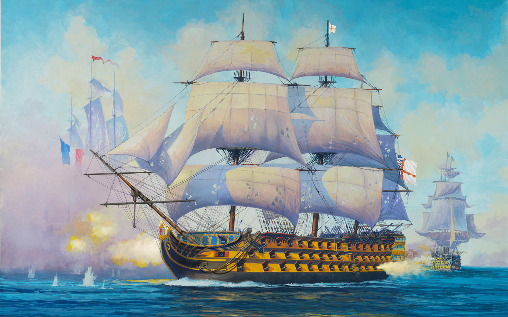 рисунок Admiral Nelson Flagship HMS Victory