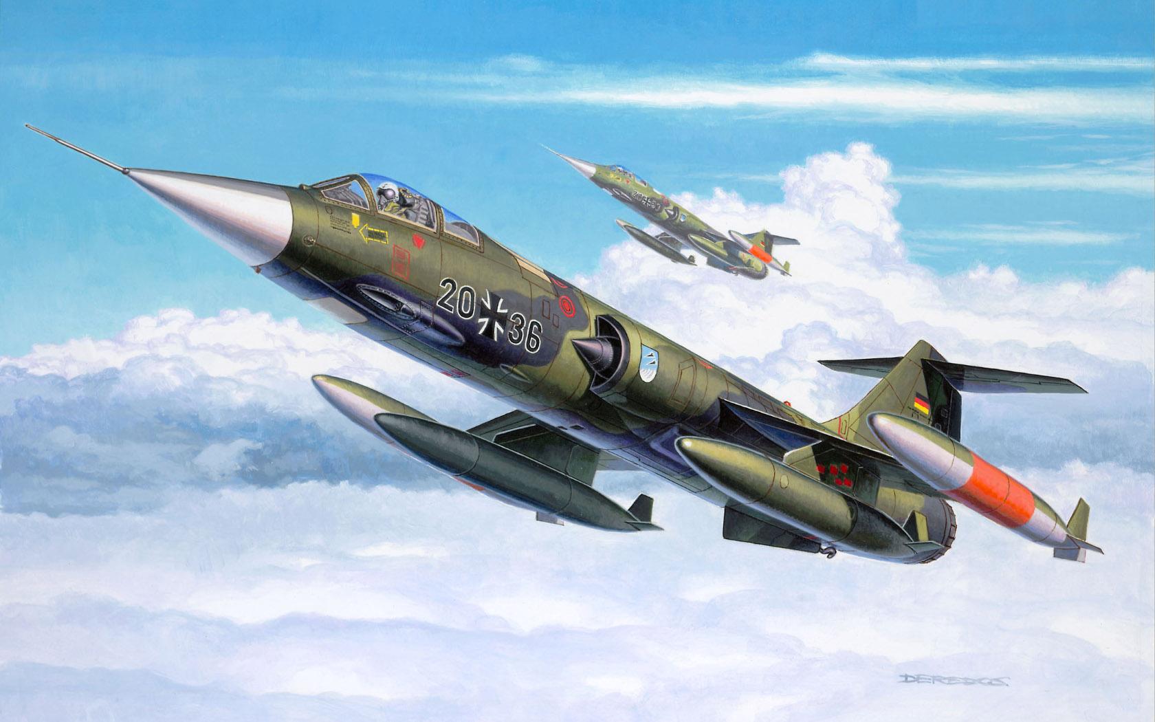 рисунок F-104 G Starfighter