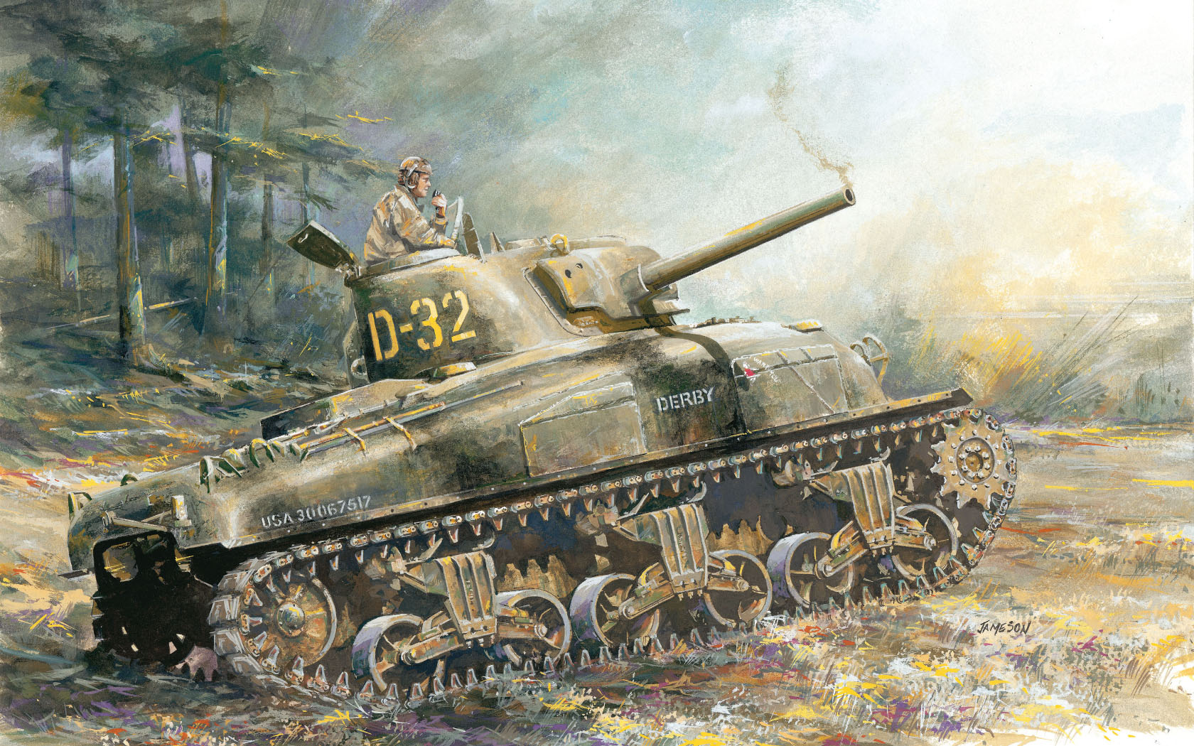 рисунок M4A1 Sherman Normandy
