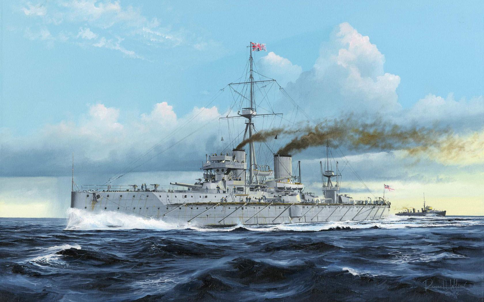 рисунок HMS Dreadnought 1907