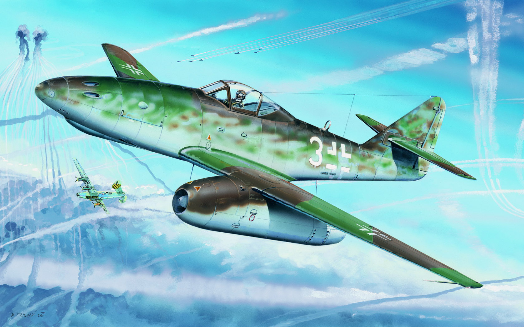 рисунок Messerschmitt Me 262 A-1a Heavy Armament