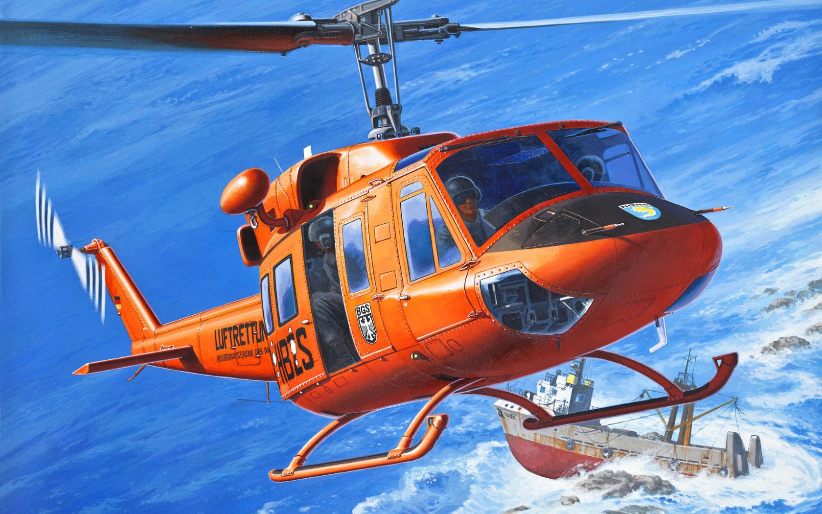 рисунок Bell AB-212 / UH-1N