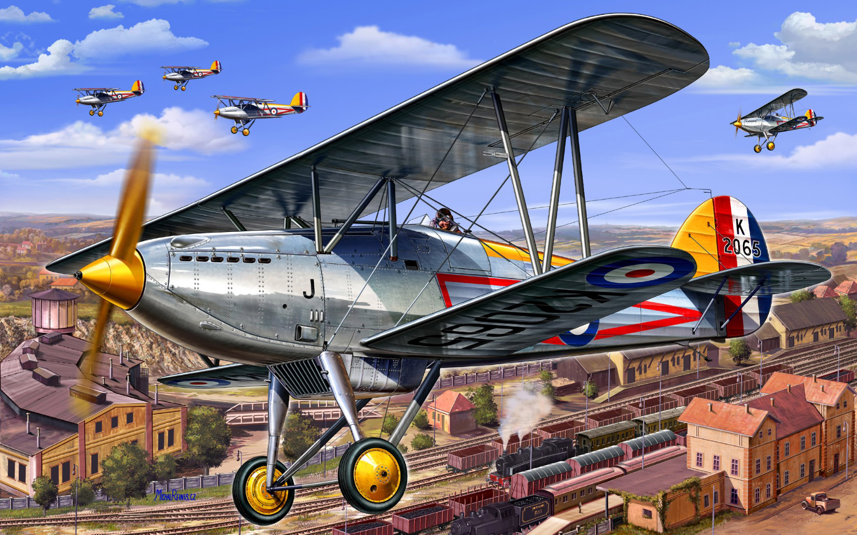рисунок Hawker Fury Mk.I