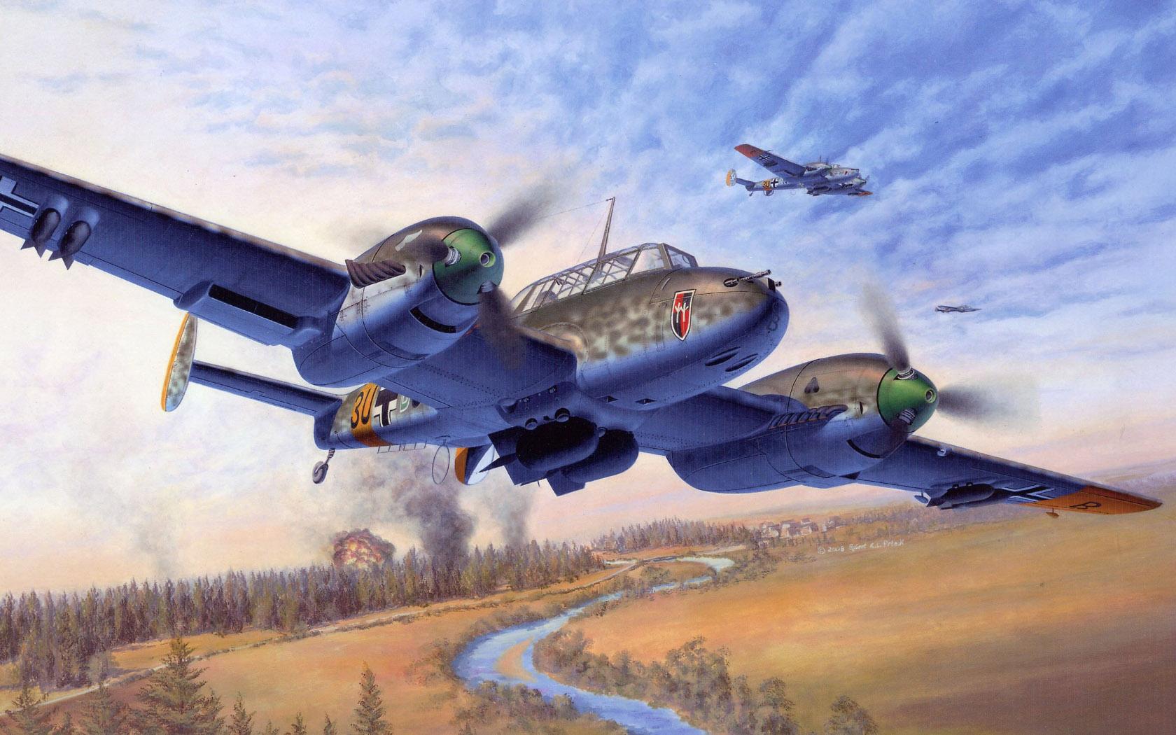 рисунок Bf-110 E-1