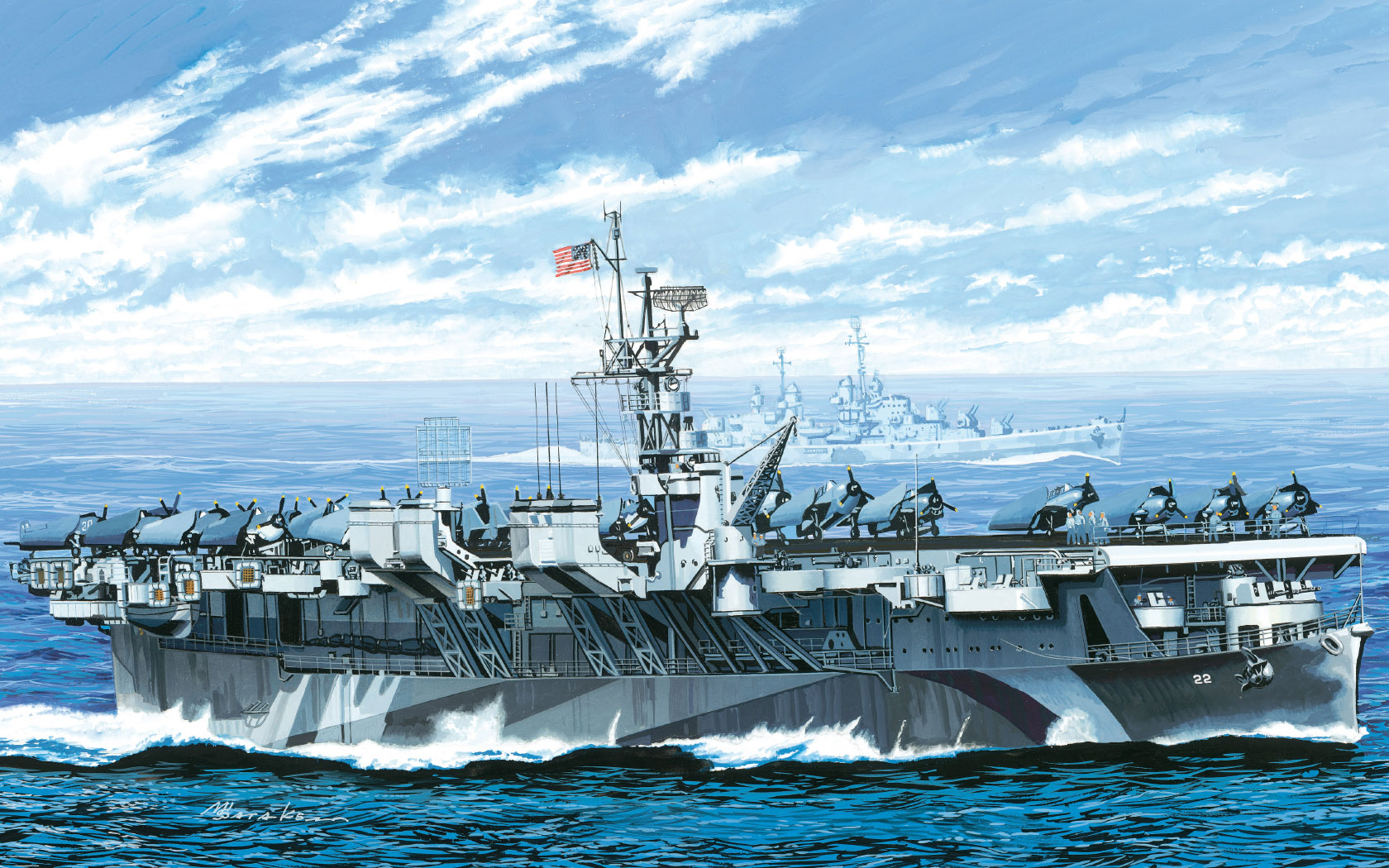 рисунок USS Independence CVL-22
