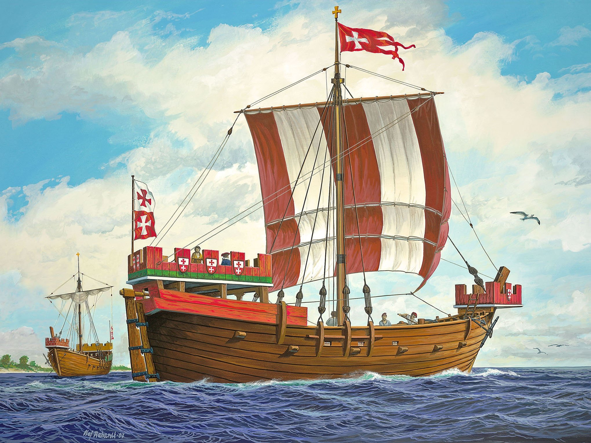 рисунок Hansa Kogge