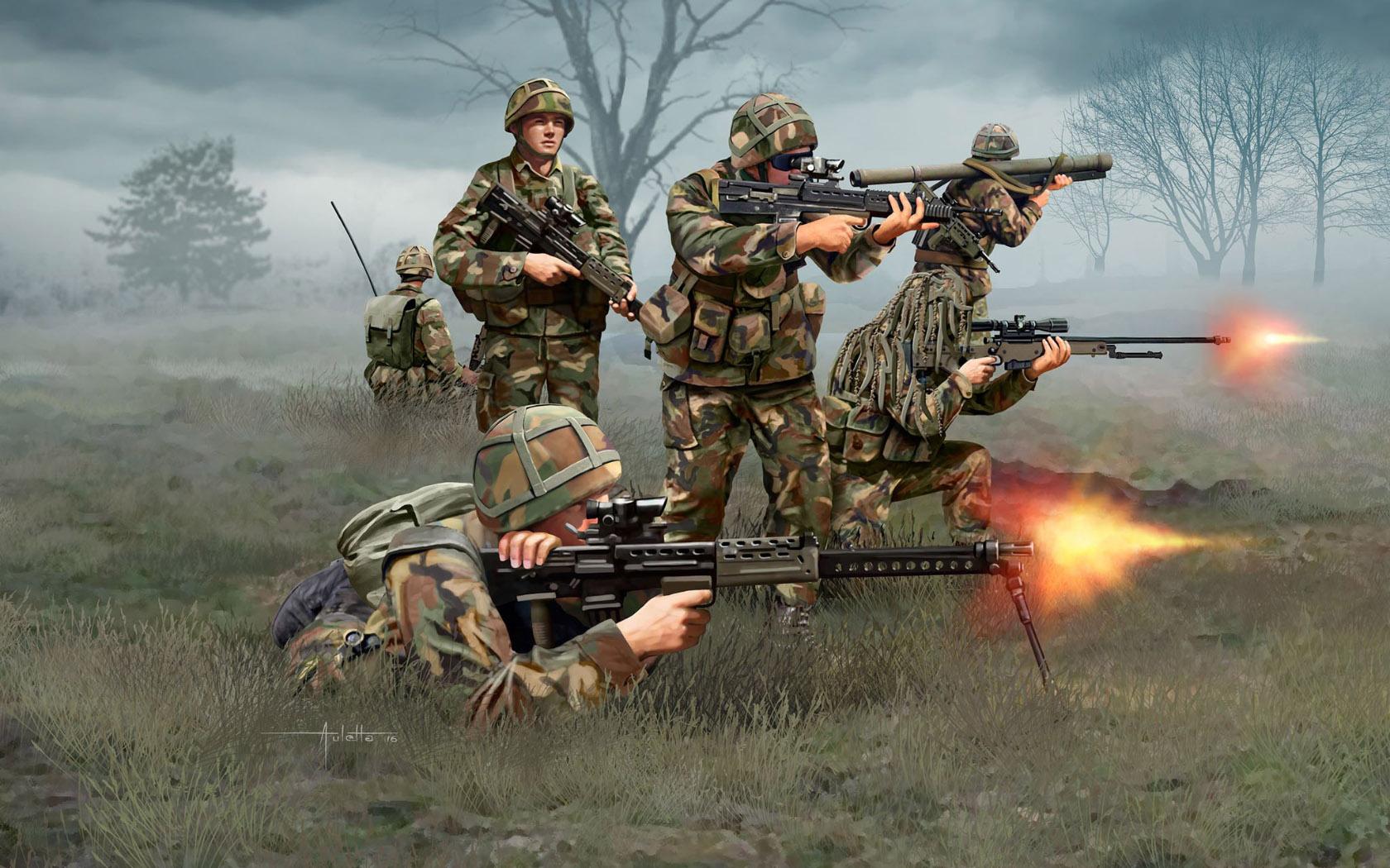 рисунок современная британская пехота