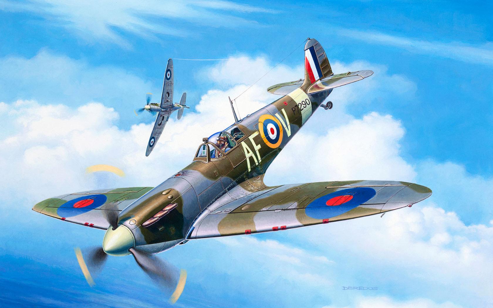 рисунок Spitfire Mk IIa