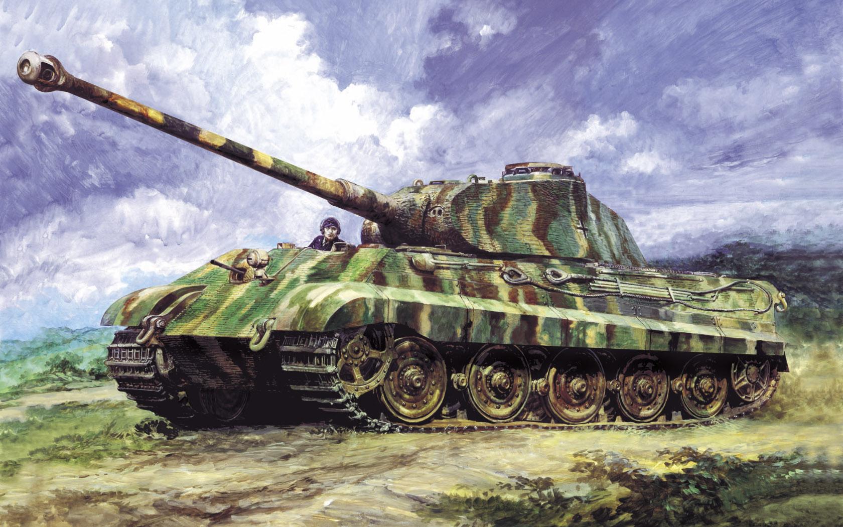 рисунок King Tiger