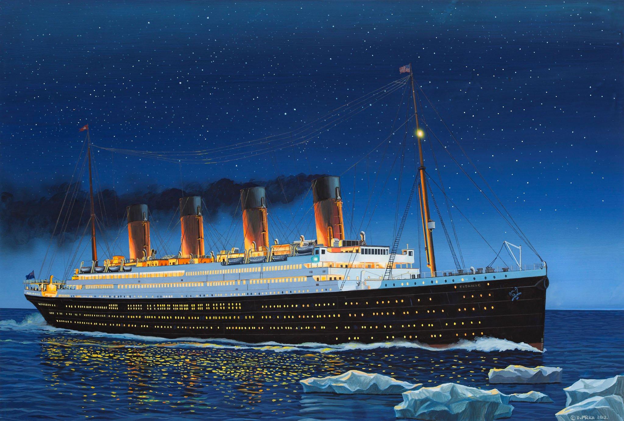 рисунок RMS Titanic