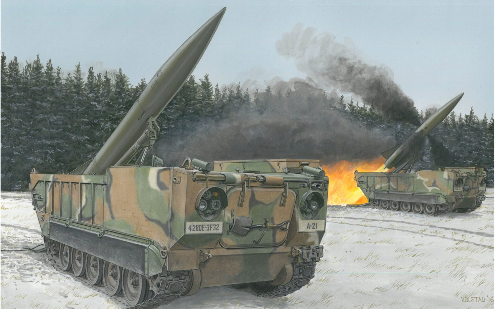 рисунок M752 Lance Self-Propelled Missile Launcher
