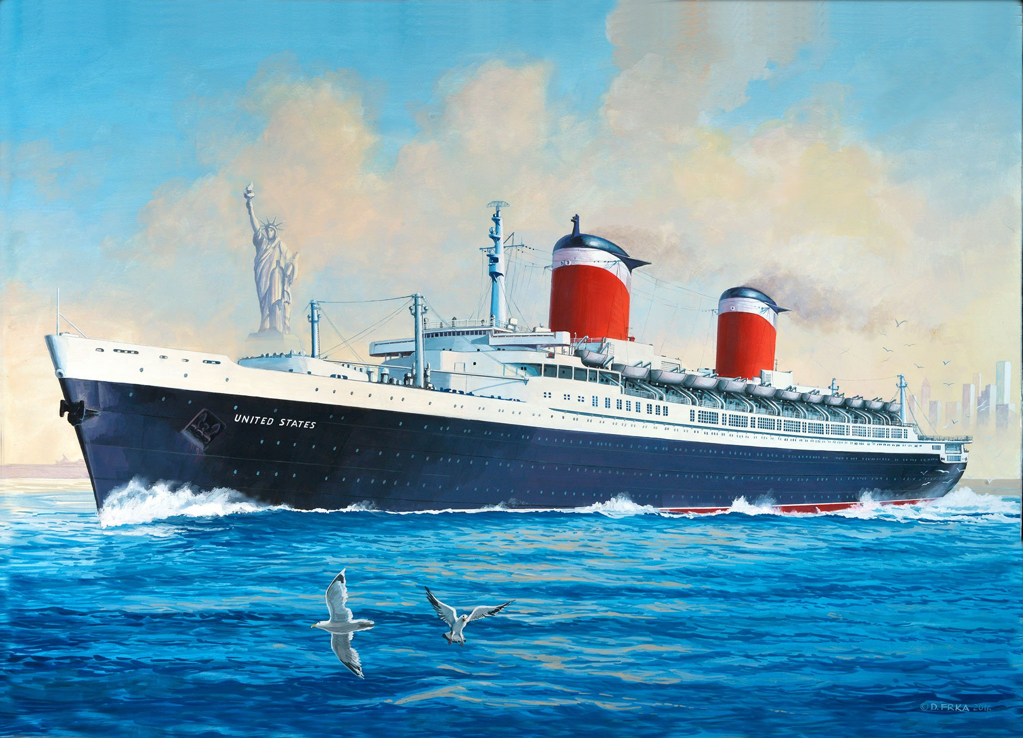 рисунок SS United States