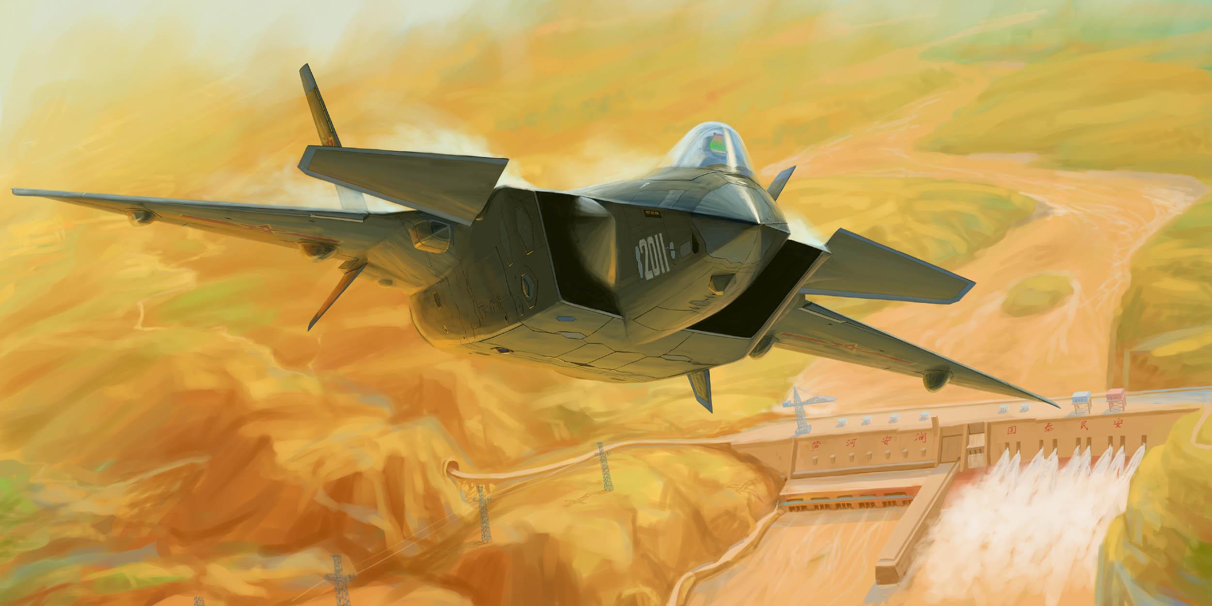 рисунок Chinese J-20 Mighty Dragon (Prototype NO.2011)