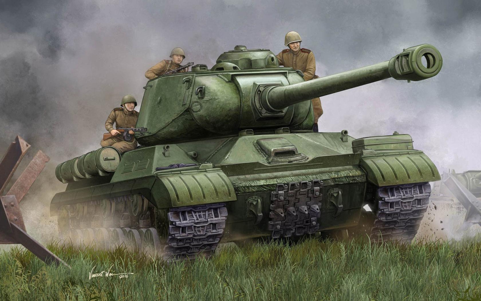 рисунок Soviet JS-2M Heavy Tank - Late