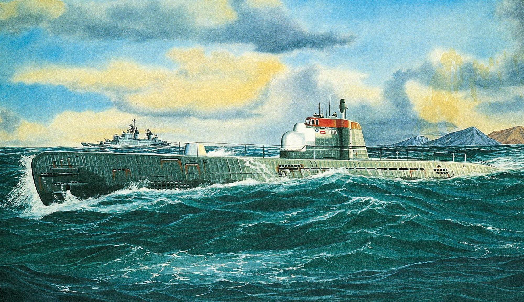 "рисунок U-Boot ""Wilhelm Bauer"""