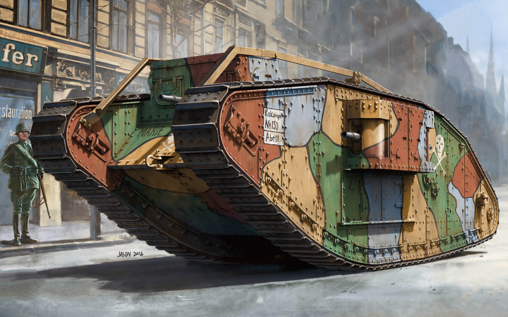рисунок WWI Heavy Battle Tank Mk.IV