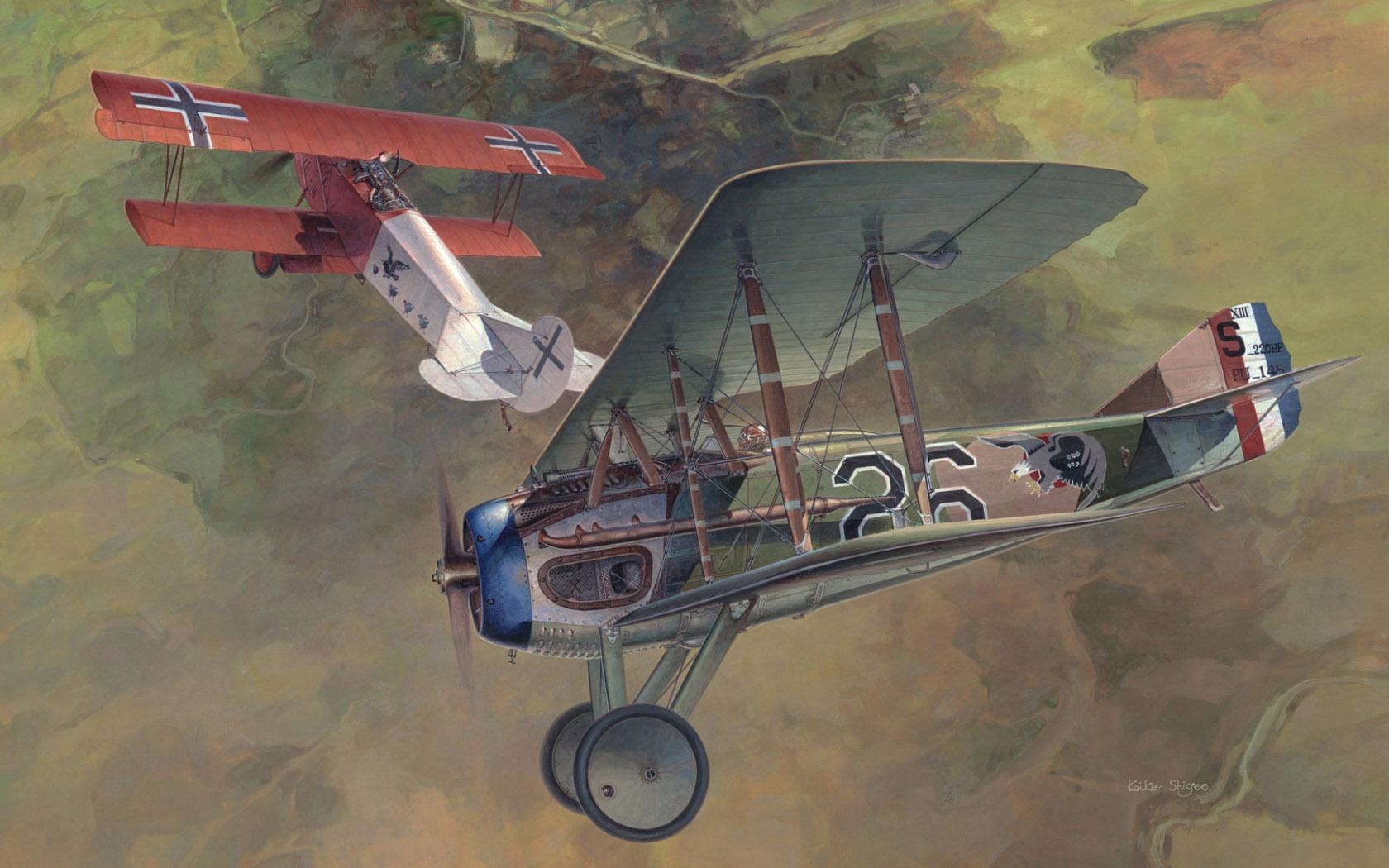 """рисунок """"Dawn Patrol"""" (SPAD XIII vs Fokker D.VII)"""