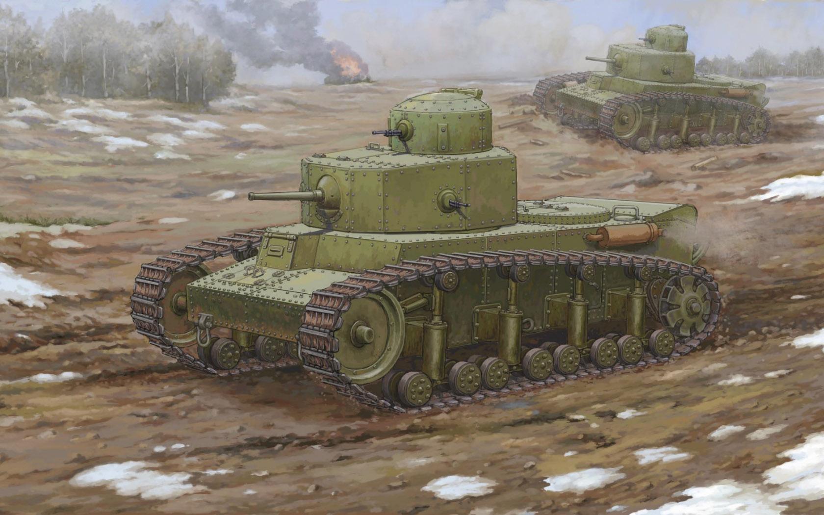 рисунок Советский средний танк Т-12