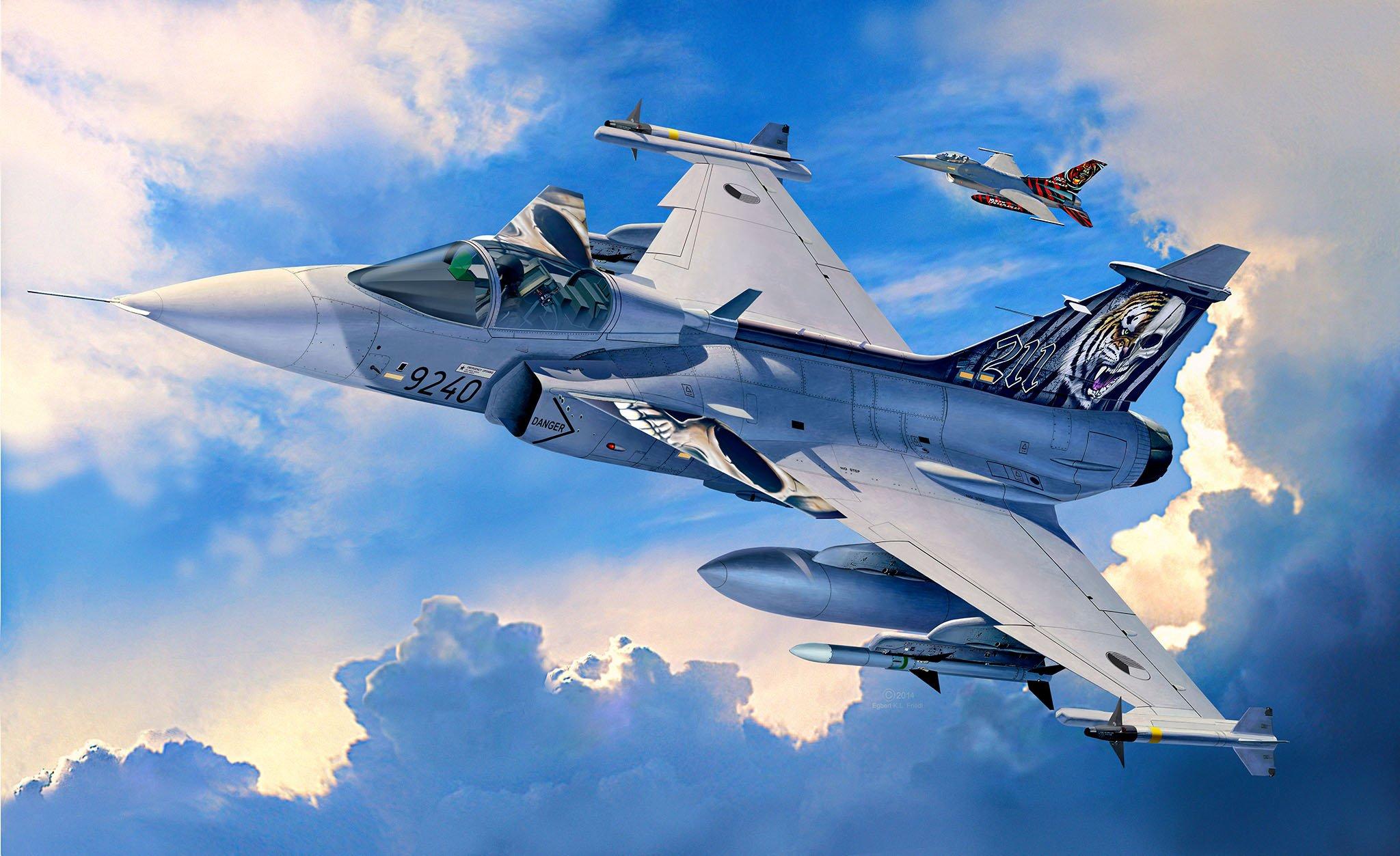 рисунок JAS-39C Gripen