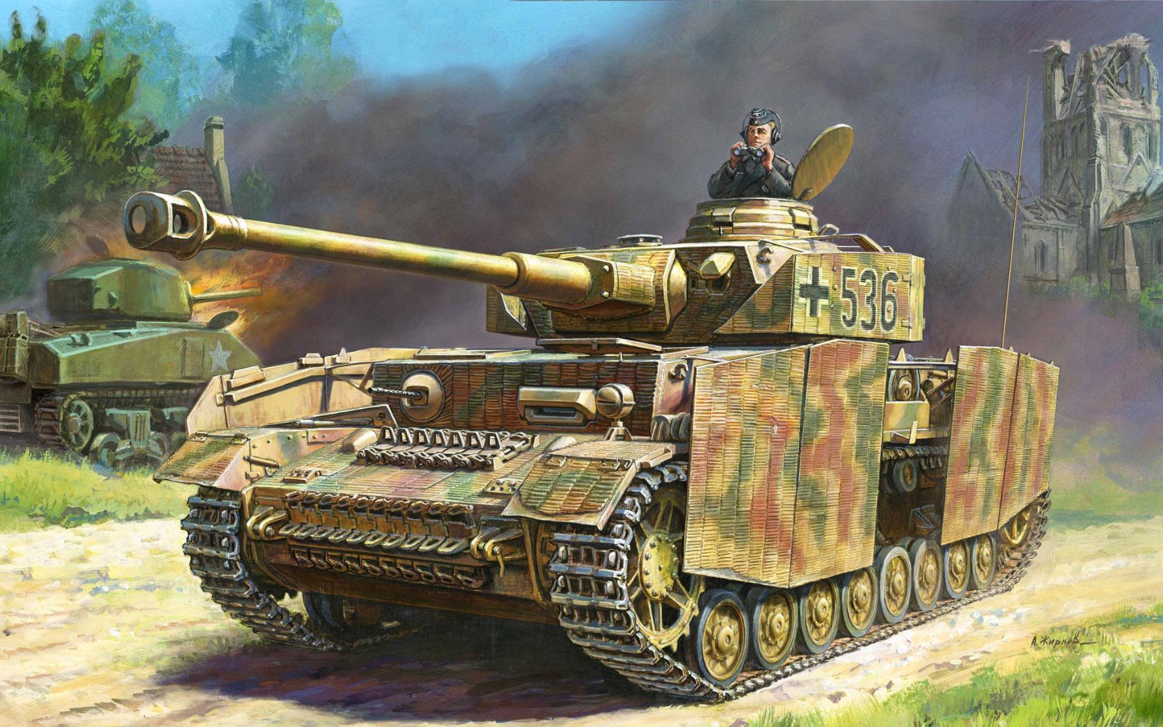 рисунок Panzer IV Ausf. H