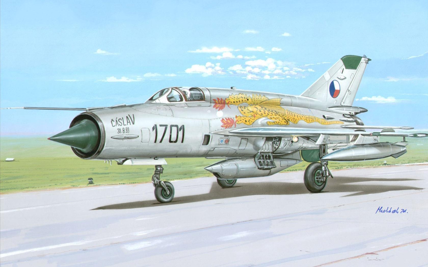 рисунок MiG-21R