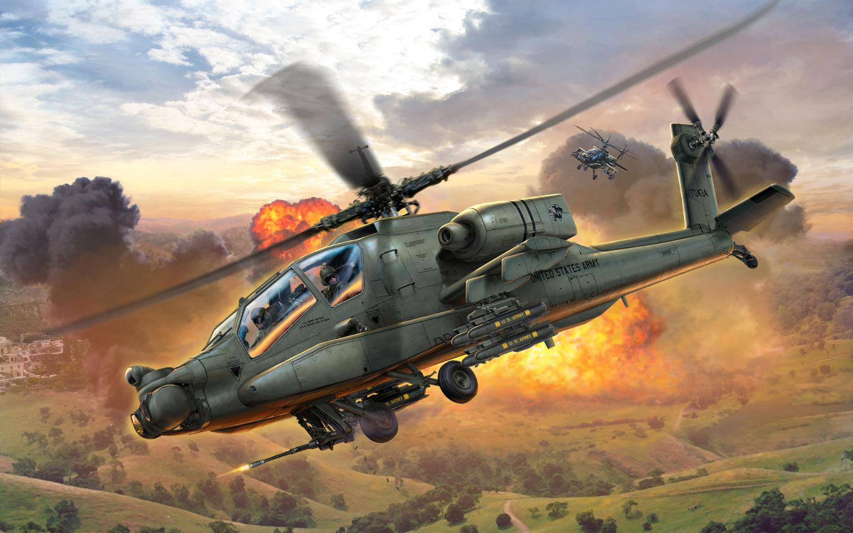 рисунок AH-64A Apache