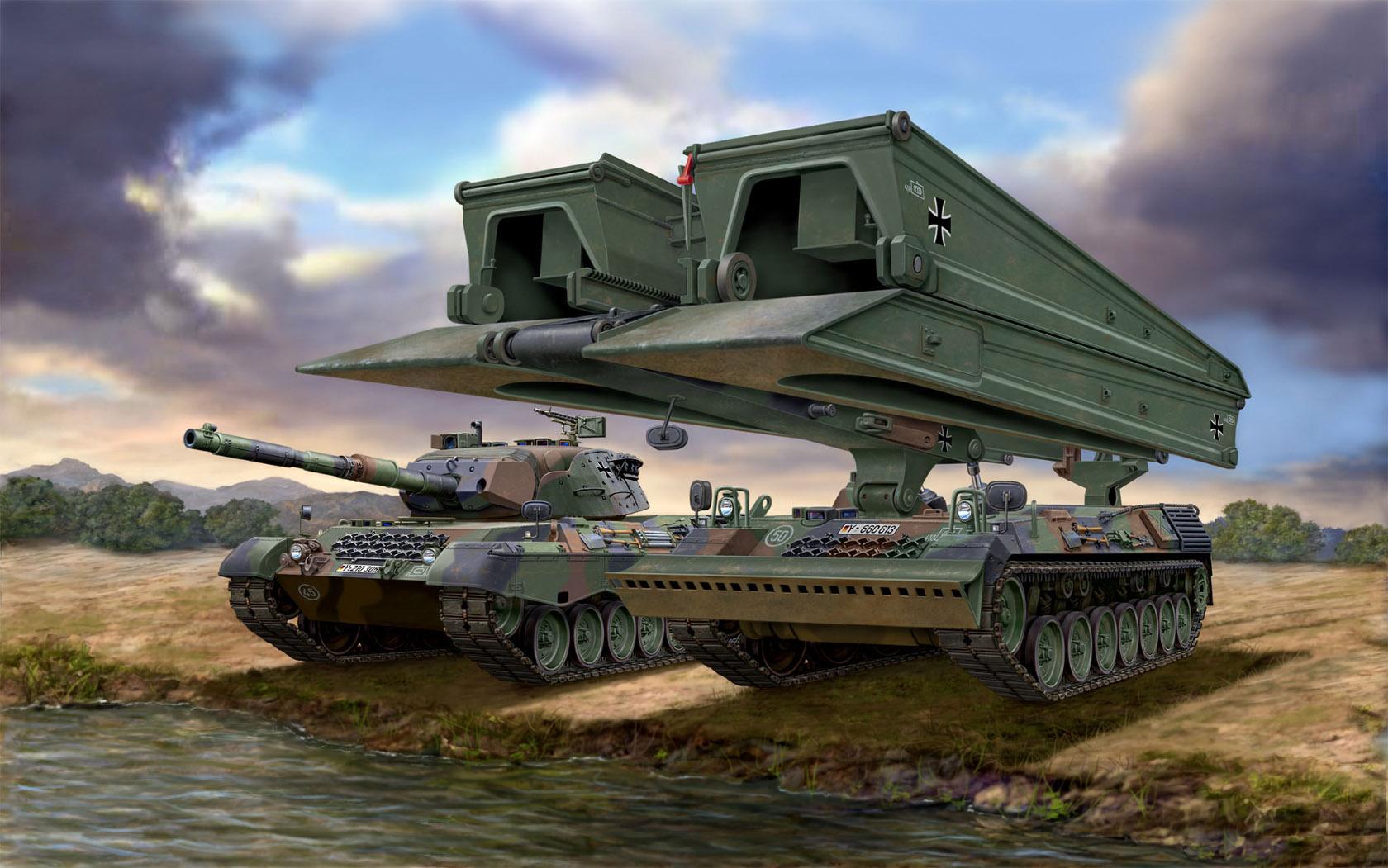рисунок Leopard 1A5 & Brückenleger Biber