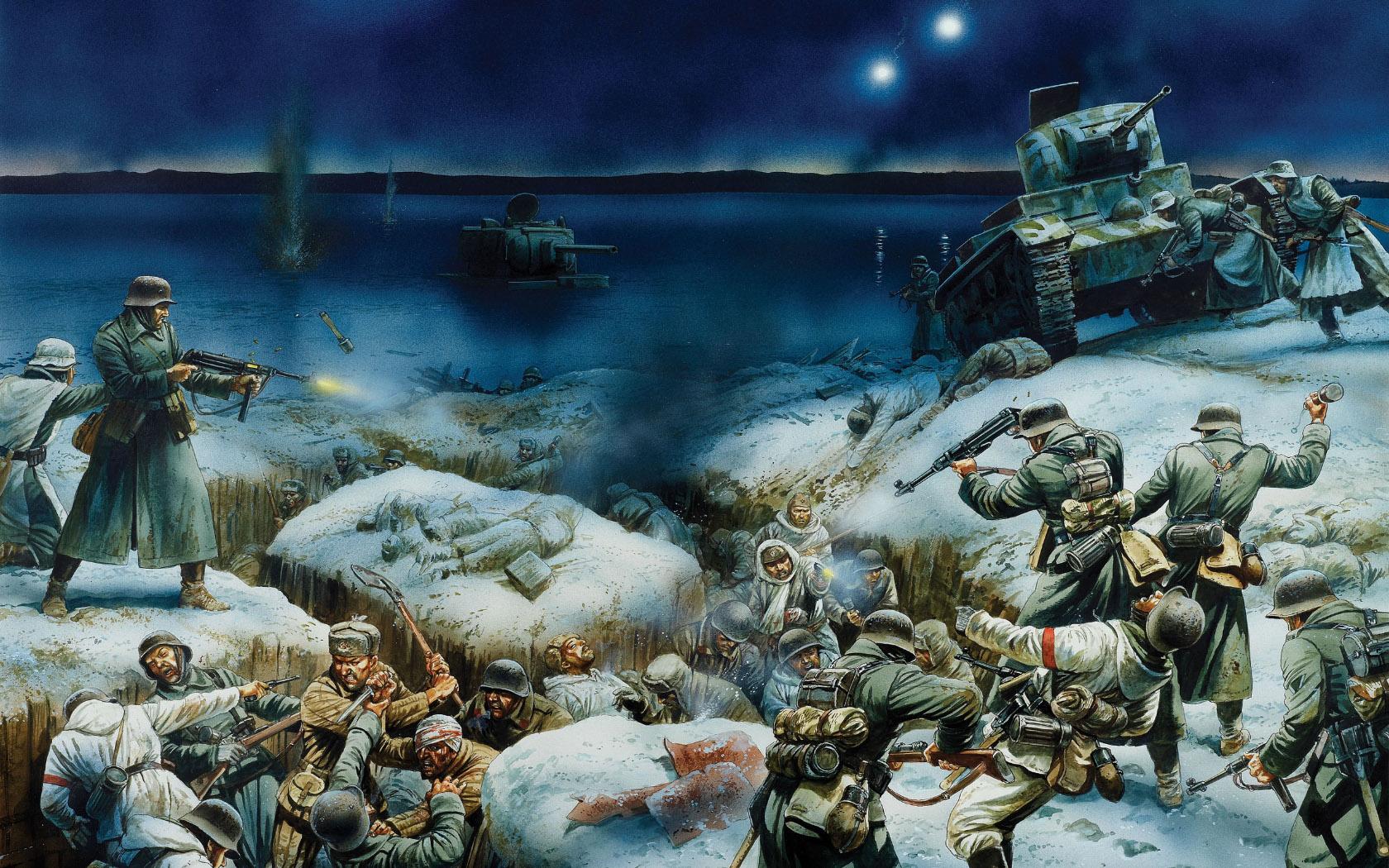 рисунок Битва за Ленинград