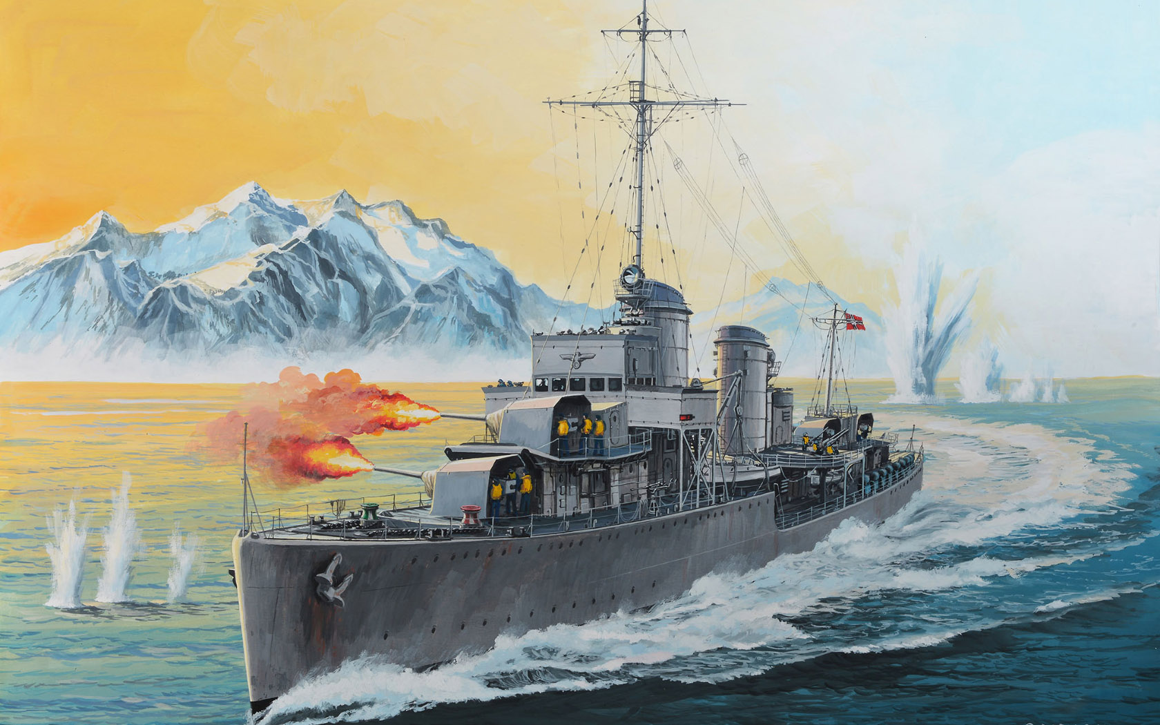 рисунок German Destroyer Type 1936