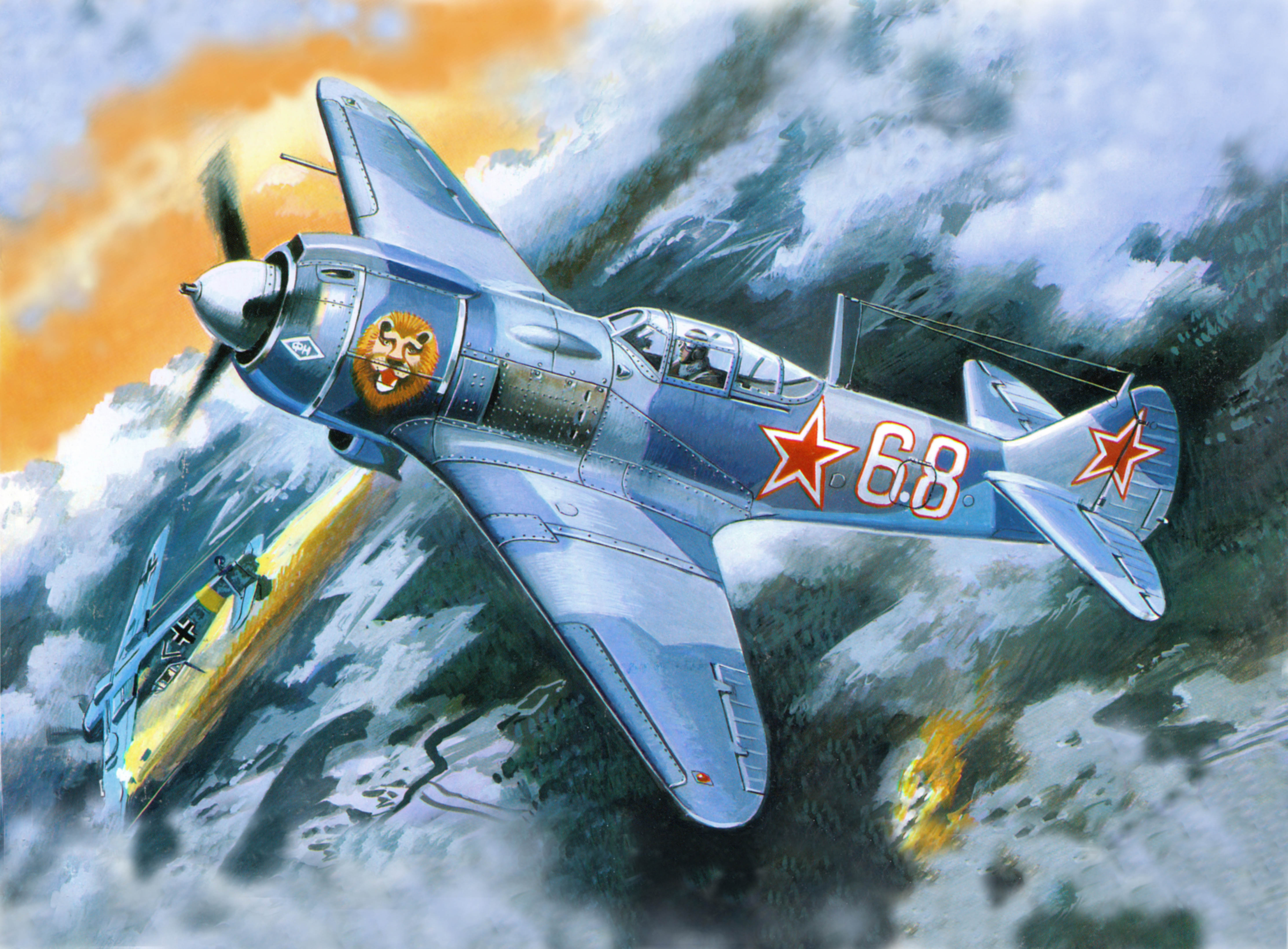рисунок 72151 Истребитель Ла-ФН