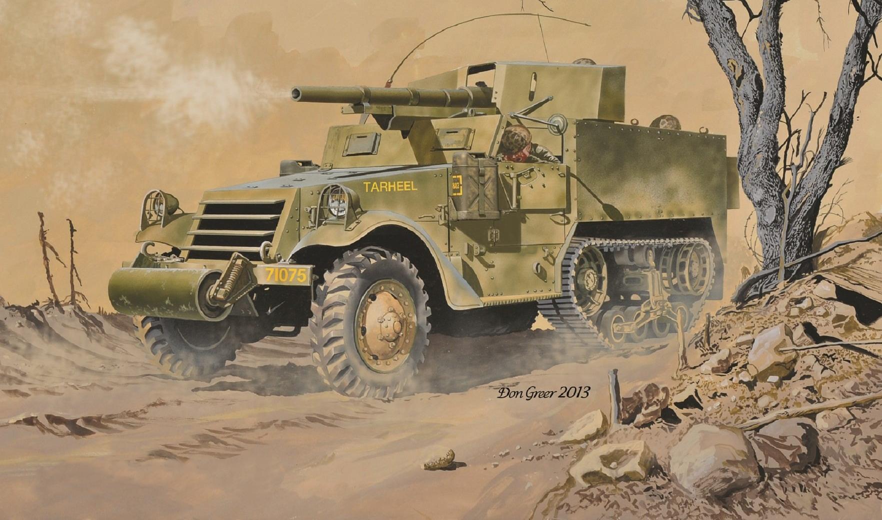 рисунок M3 Gun Motor Carriage