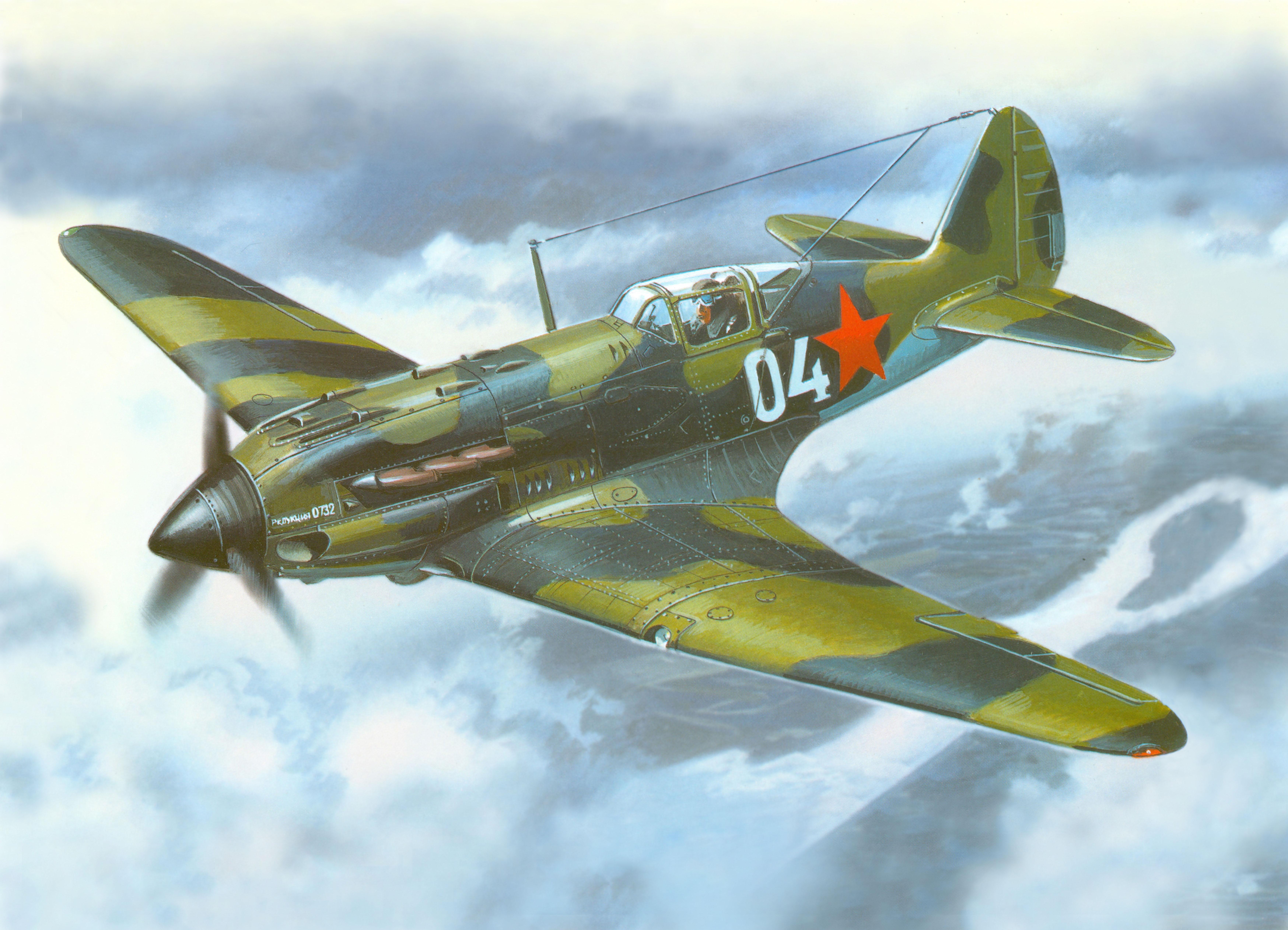 рисунок 48012 Советский высотный истребитель МиГ-3