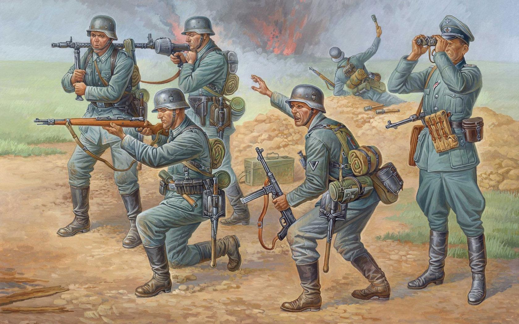 рисунок Deutsche Infanterie