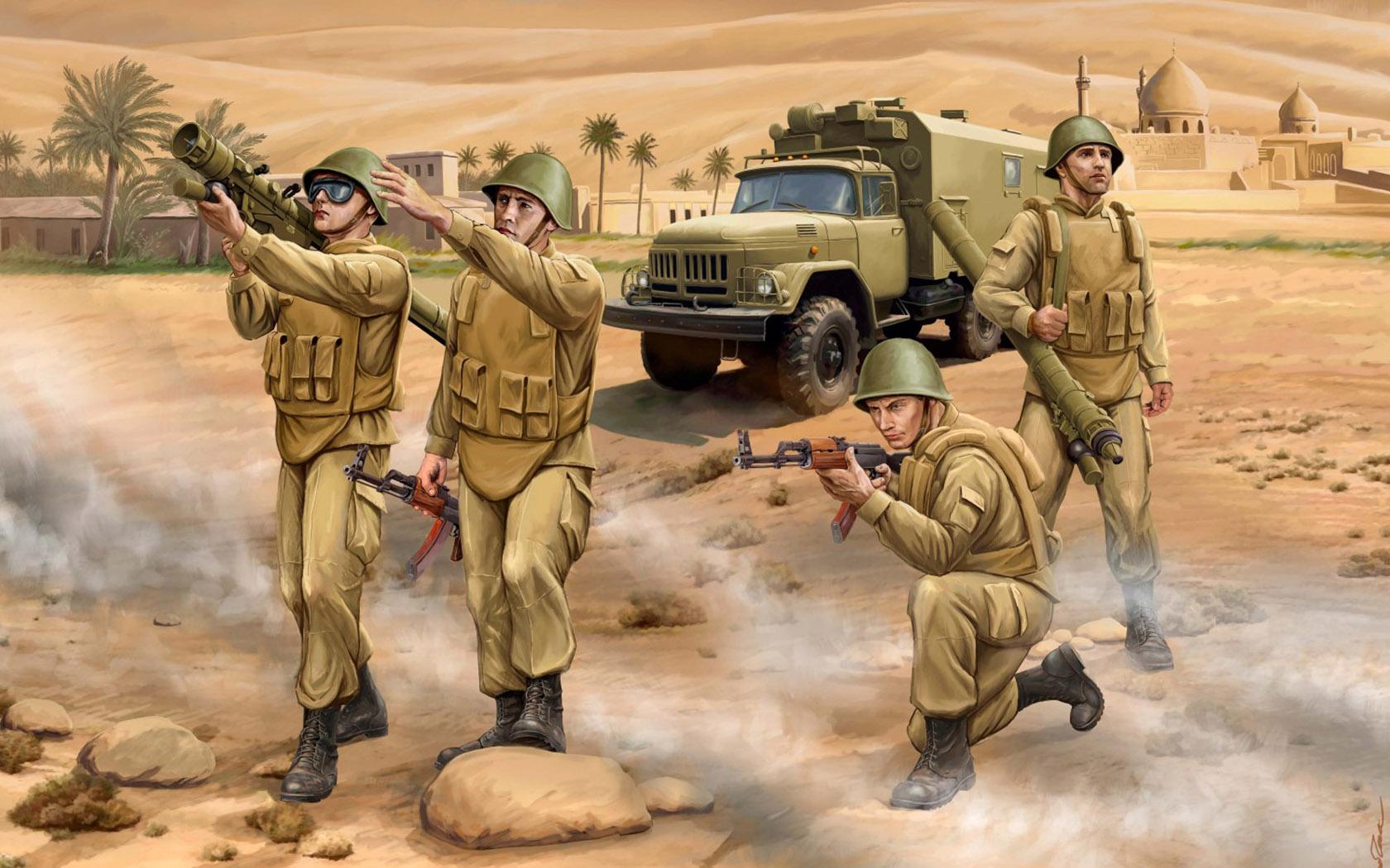 рисунок Советские зенитчики