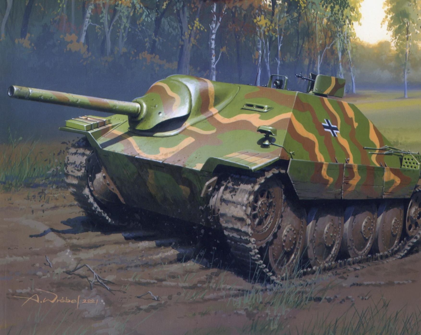 рисунок Истребитель танков Хетцер