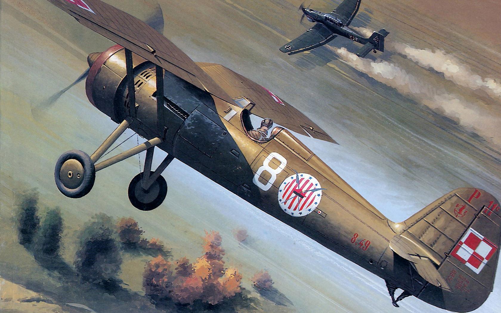 рисунок PZL P-11