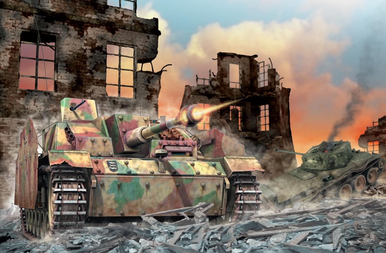 рисунок Штурмовые орудия Гитлера