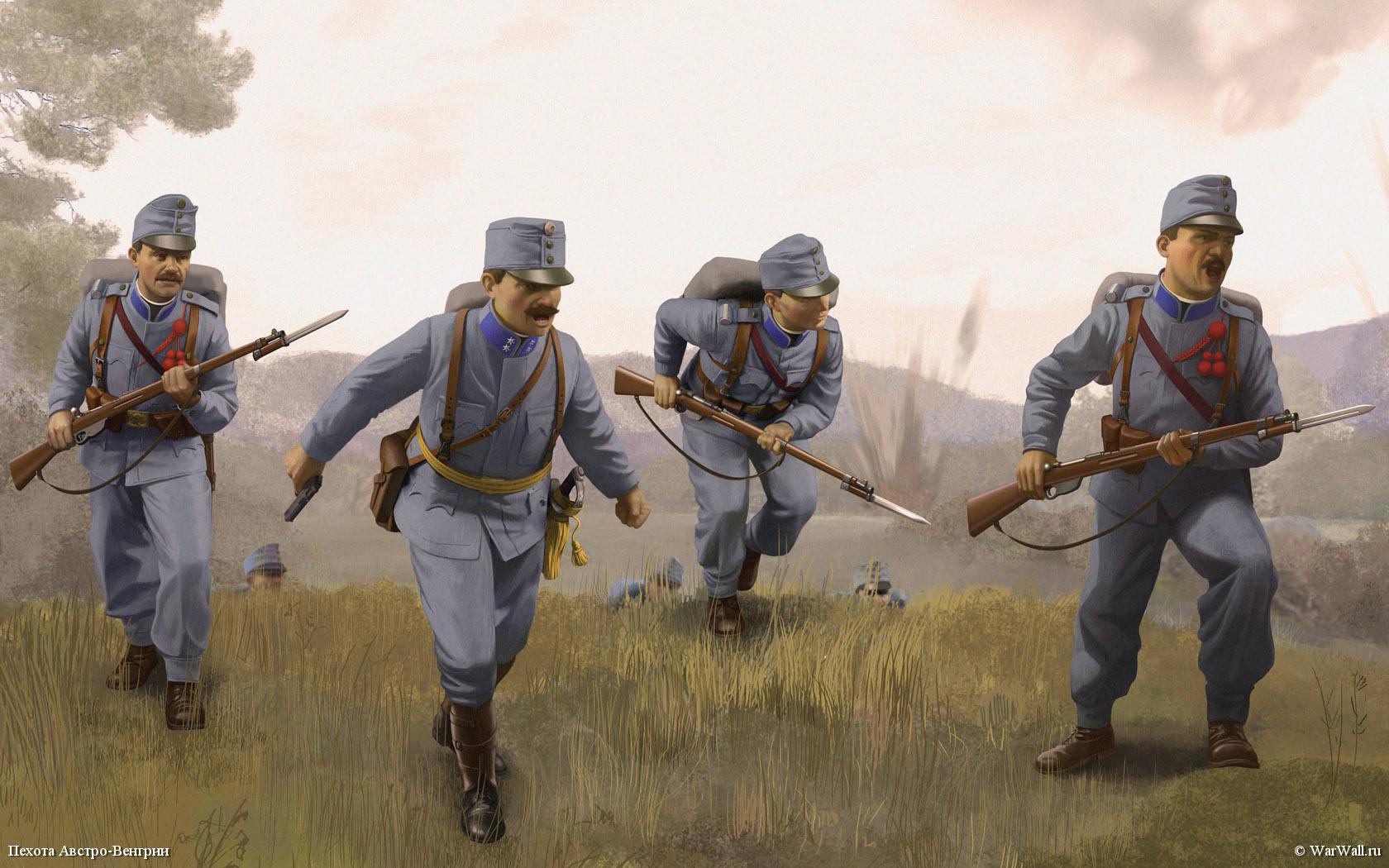 рисунок 35673 Австро-венгерская пехота