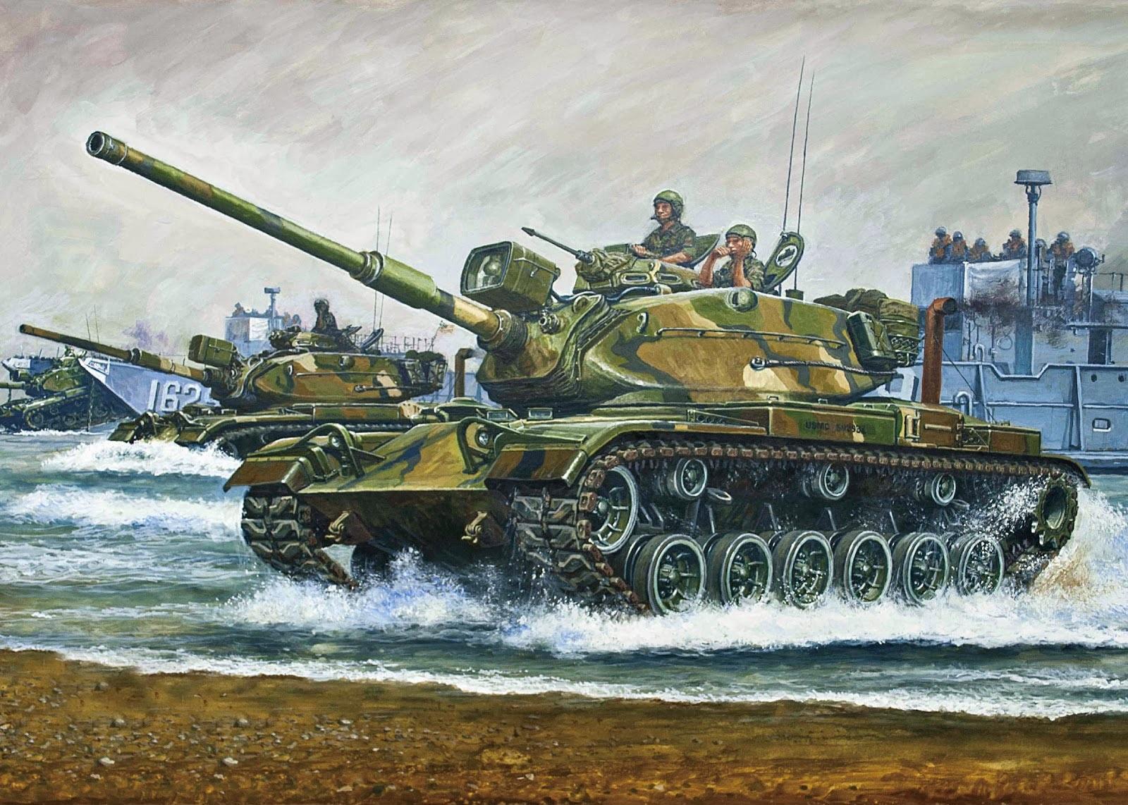 рисунок M60A1 Patton