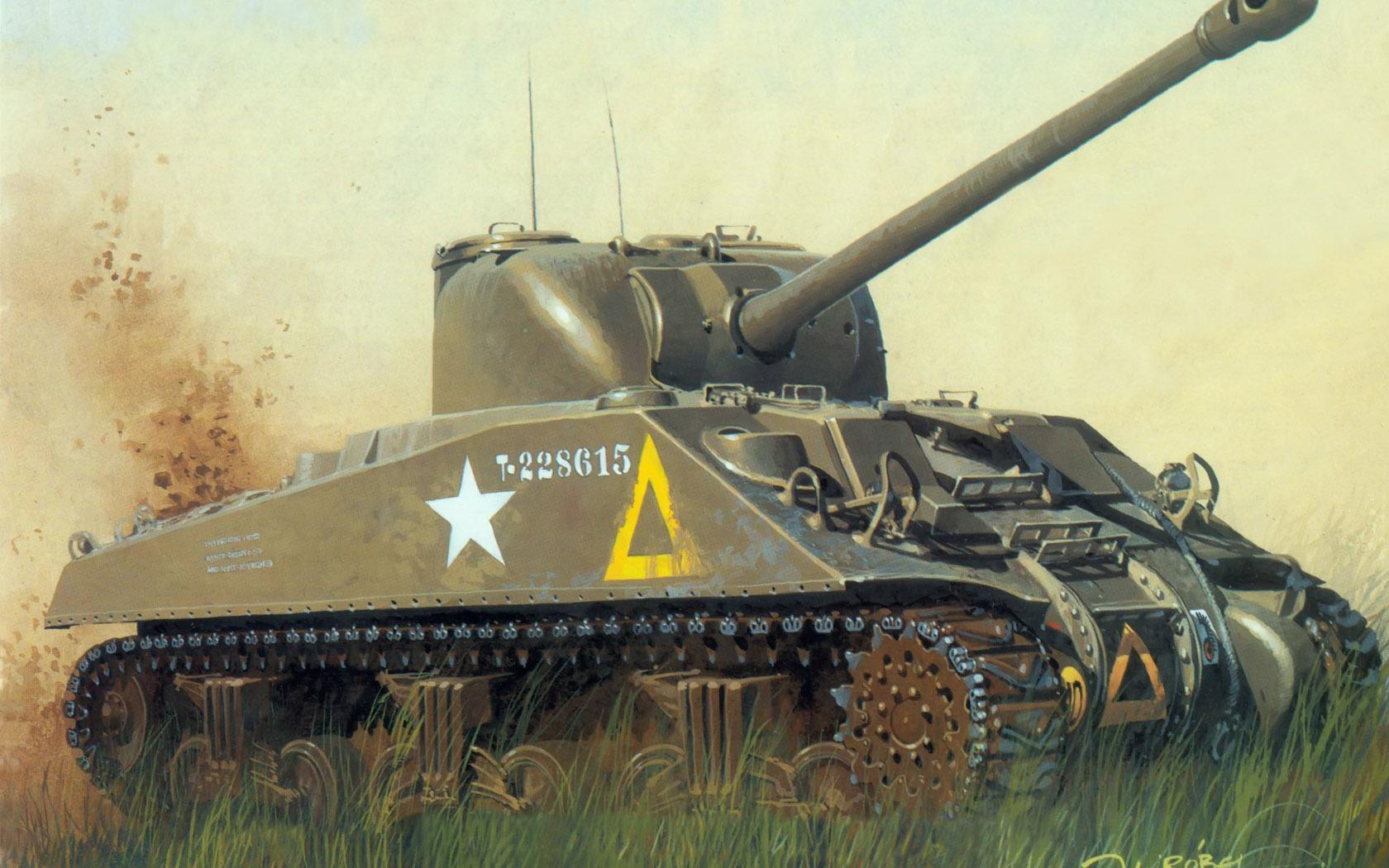 рисунок Sherman VC Firefly