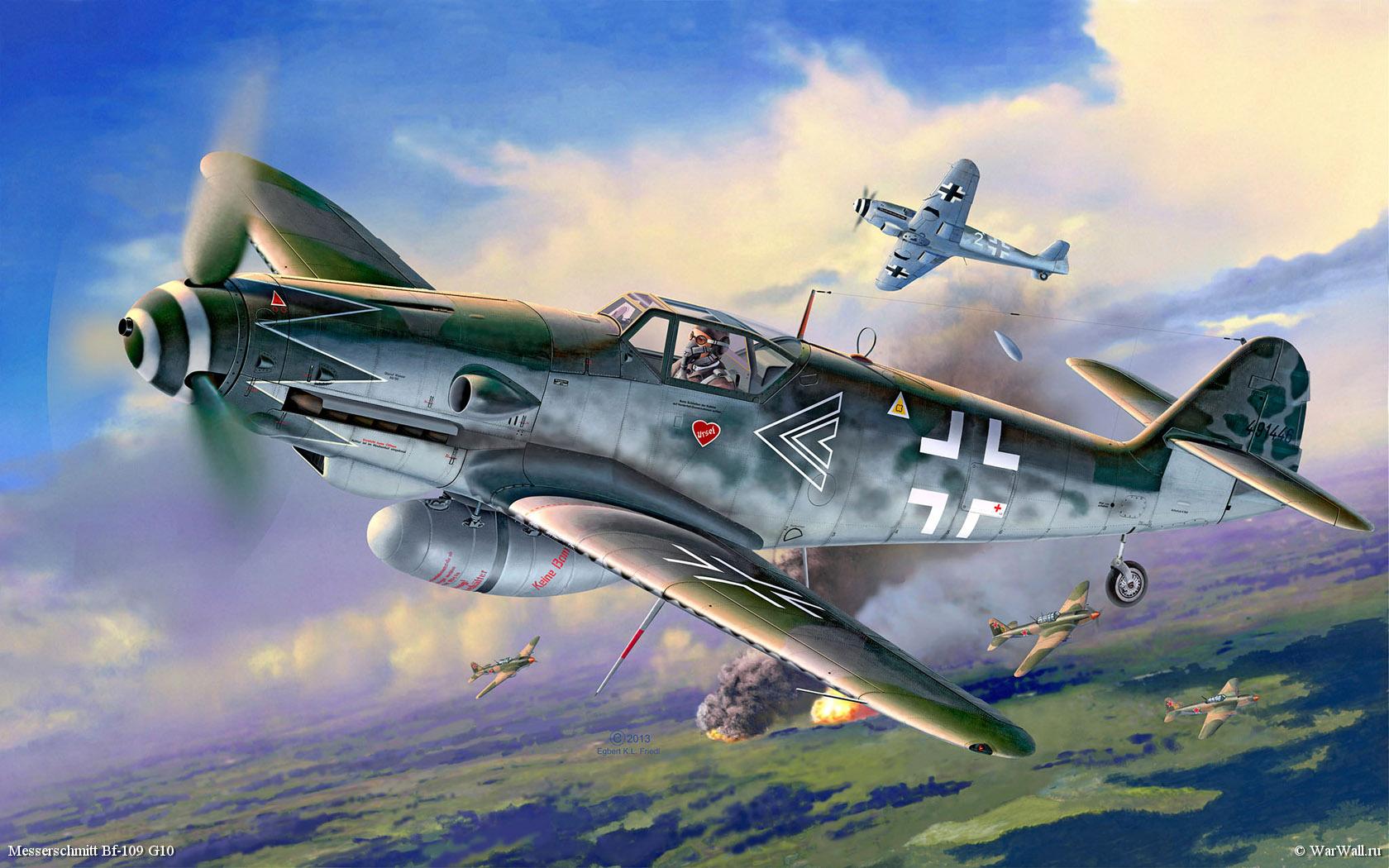 рисунок 04888 Bf-109G-10