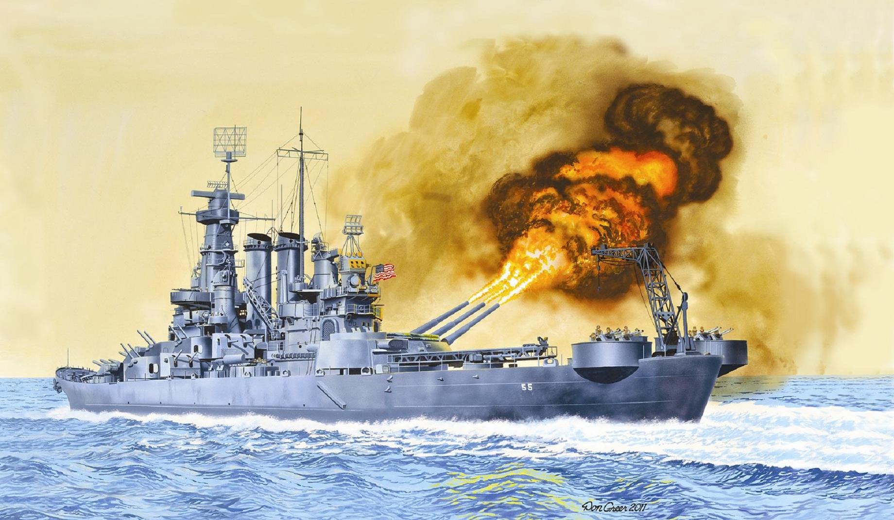 рисунок USS North Carolina